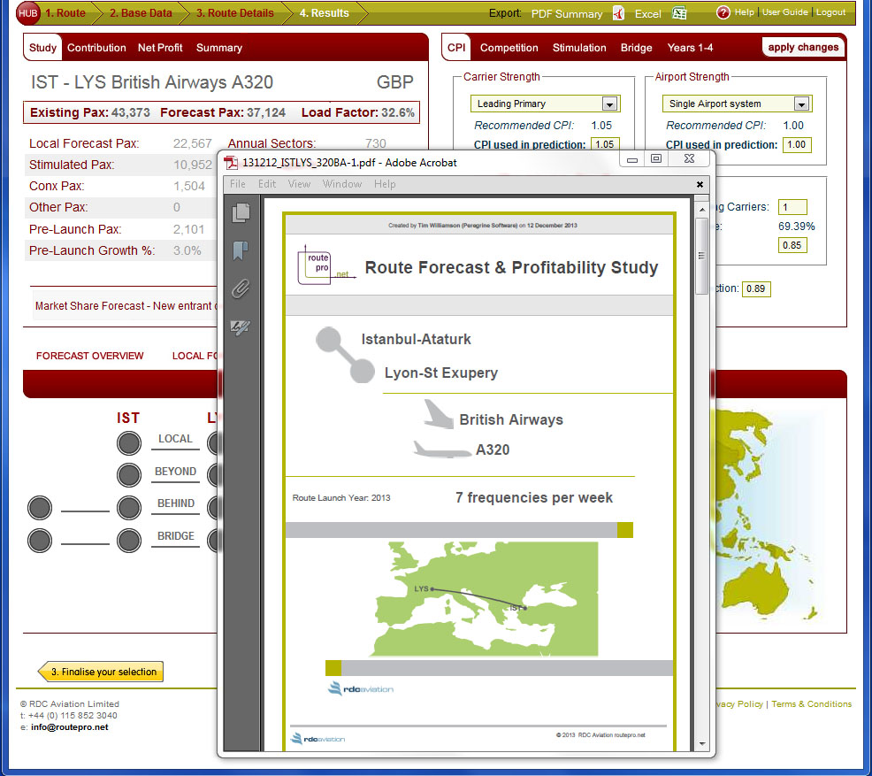 rdcAviations Forecasting Website
