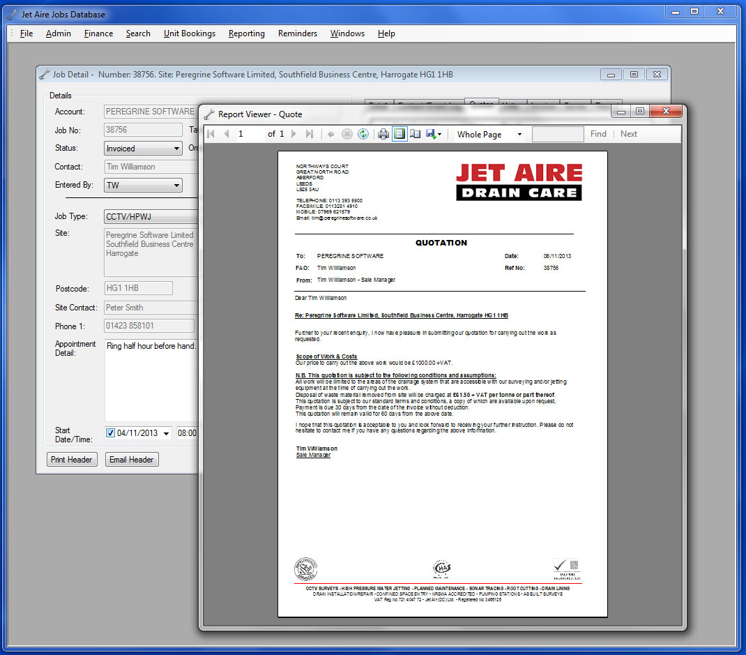 Jet Aire's New Database
